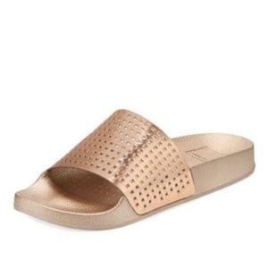 Dolce Vita Gold Perforated Shower Sandals